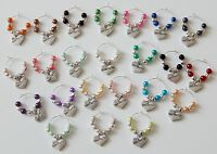 SETS OF MIXED COLOUR HEN PARTY & BRIDE TO BE WINE GLASS CHARMS KEEPSAKE GIFT