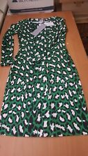 DVF Diane von Furstenberg NWT muriel spotted cat green dress 0