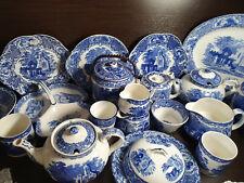 More details for george jones&sones abbey 1790 blue&white antique c.1910 plates bowls etc