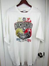 2013 BCS Championship Game Shirt 2XL Alabama vs Notre Dame White Gildan B4