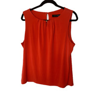 Ivanka Trump Camisole Blouse Women's Large L Red Sleeveless Round Neck Top