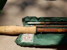 Vintage Montague Manitou split bamboo Fly Rod w/ Original Sleeve & Vintage Tube