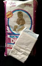 Vintage Truly Fine Safeway Brand Plastic Backed Baby Diaper Size Large