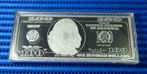 1997 United States $100 Franklin Quarter Pound Silver Proof Note