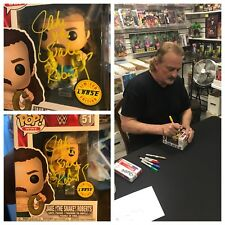 AUTOGRAPHED JAKE THE SNAKE ROBERTS CHASE FUNKO POP SERIES FIGURE