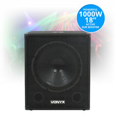 "Swa18 18"" Inch Active Powered Subwoofer Bass Bin Stage Club DJ PA Speaker 1000w"