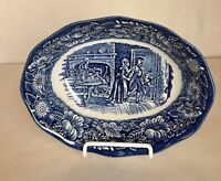 Staffordshire Liberty Blue Oval Vegetable Bowl