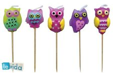 Owl Theme Birthday Candles - Chidren's Novelty Candles (LCC052)