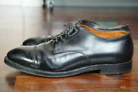 BOX & BAGS | ALDEN 9.5 BLACK LEATHER CALFSKIN LEATHER OUTSOLE DERBY CAP TOE SNAP