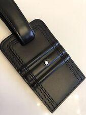 MONTBLANC *MST* Gepäckschild Taschen Anhänger Luggage Tag Leather NP:145€ -1708