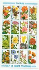 1980 EQUATORIAL AFRICA FLOWERS IMPERF SHEET OF 20 STAMPS, HIGH VALUE !