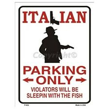 Parking Sign - Italian Parking Only Wall Art Home Decor Picture Gift
