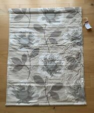 Next Roman Blind Blackout Poppy Print Cotton BN 90 X 120 (5 X Available) Natural