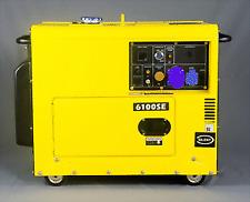 KOMPAK Baustellen Stromaggregat Stromerzeuger Leise Silent Diesel 5500W DK6100SE