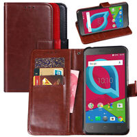 Retro PU Leather Card Wallet Case Flip Stand Cover For Alcatel IDEALXCITE/Verso