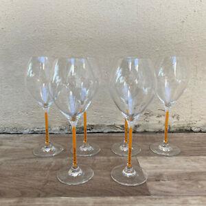 6 x Veuve Cliquot Clicquot Orange Glasses Flutes Cup Ice 1801213