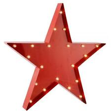 Large LED Metal Red Star Wall Art Vintage Retro Sign