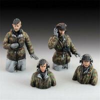 1/35 WWII tank soldiers Unpainted Resin Kits Model GK Figure