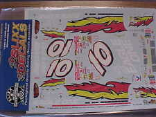 2001 JOHNNY BENSON #10 VALVOLINE EAGLE ONE 1/24 SCALE WATER SLIDE DECAL SHEET