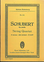 Schubert : String Quartet op. posth.  G moll ~ Taschenpartitur