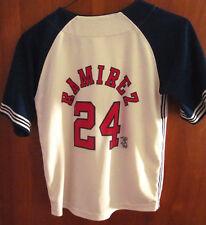 BOSTON RED SOX beat-up jersey Manny Ramirez size 7 baseball NIKE youth med