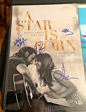 A STAR IS BORN SIGNED PHOTO LADY GAGA BRADLEY COOPER 12X18 AUTOGRAPH PSA BAS COA