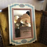NATIVE AMERICAN 70'S WALL MIRROR COLLECTIBLE DECOR ART F/S HOUSE VINTAGE OLD