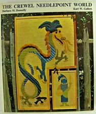 THE CREWEL NEEDLEPOINT WORLD by Barbara Donnelly & Karl Gullers 111 pp 1973