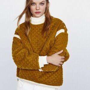 Zara Mustard Quilted Sweater