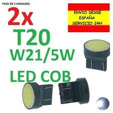 2x BOMBILLA W21/5W T20 7443 COB COCHE LUZ POSICION Y FRENO MARCHA ATRAS NIEBLA