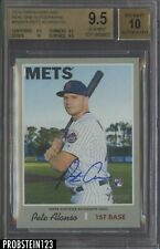 2019 Topps Heritage Real One HIGH# Pete Alonso Mets RC AUTO BGS 9.5 w/ 10