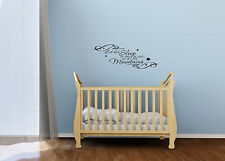 "Nursery vinyl decal, ""Let her sleep will move mountains"", nursery sticker,"