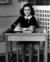 1930s World War II Victim ANNE FRANK Glossy 8x10 Photo Famous Portrait Print