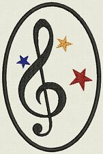 Music patch Custom Embroidered tag, badge, Patch - Customize it!