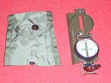MILITARY SURPLUS FIRST AID COMPASS POUCH + LENSATIC COMPASS SURVIVAL GEAR FIELD