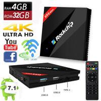 H96 MAX 4GB/32GB Android 7.1 Smart TV Box Rockchip RK3399 H.265 4K HD OTA 5G WIF