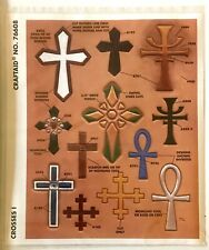 Tandy Leather Factory Religious Crosses I Pattern Stencil NEW Craftaid No. 76608