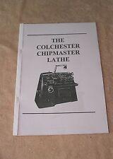 Colchester Chipmaster Lathe Manual (World Posting)