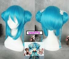 Project Enomoto Takane Chinoiserie ver ene Blue Bun+braid Party Cosplay Wig