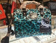 [SANTB1251] Hello kitty loungefly blue leopard duffle purse