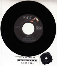 "MARIO LANZA  Silent Night & The First Noel CHRISTMAS 7"" 45 NEW + jukebox strip"