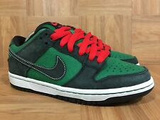 RARE🔥 Nike Dunk Low Premium SB PINE Green Atom Red Christmas Sz 4.5 313170-306