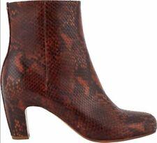 $980 MAISON MARTIN MARGIELA Marsala Red Snake Print Ankle Boots RARE! 7.5 8 37.5
