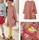MINI BODEN Girls Fairy Applique Dress Long Sleeved Jersey Cotton Pretty Pink NEW