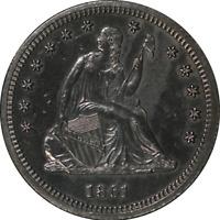 1861-P Seated Liberty Quarter Proof Nice Eye Appeal CIVIL WAR DATE