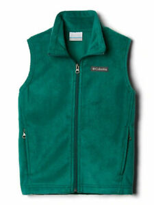 Columbia Boys' Young Steens Mountain Fleece Vest Size Large Color Pine Green
