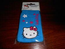 étui chaussette téléphone mobile ou mp3 HELLO KITTY bleu - neuf