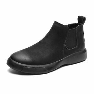 Botas De Cuero Genuino Para Hombre Zapatos Altos De Invierno Felpa Cálido Casual