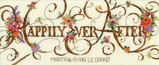 Cross Stitch Kit ~ Dimensions Happily Ever After Wedding Record #70-35361