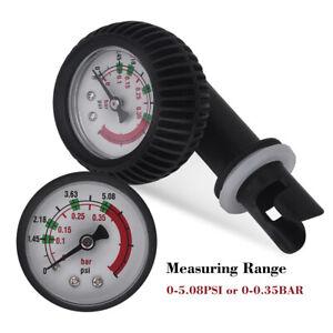 Nylon Inflatable Boat Air Pressure Gauge Barometer for Kayak Raft Black❤FF